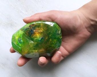 October Birthstone Opal Mineral Soap 4 to 4.5oz Mineral Soap