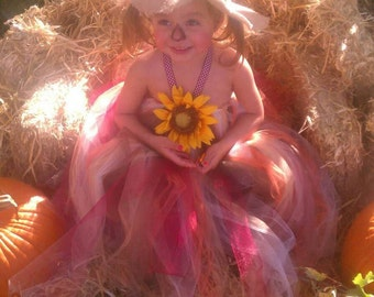 Scare crow costume,Scare crow tutu dress, harvest costume,Autumn tutu dress, sunflower dress, 0-10 years