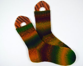 hand knitted women wool socks, UK 6,5-7,5  US 8-9