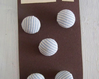 Blue and White Nautical Stripe Buttons