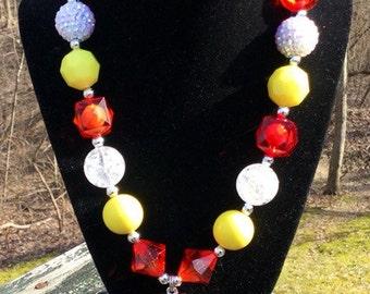On Sale Military Necklace, Cyber Monday, Marine Chunky Necklace, Military Chunky Necklace,Dog Tag Necklace,Bubble Gum Necklace, Semper Fi