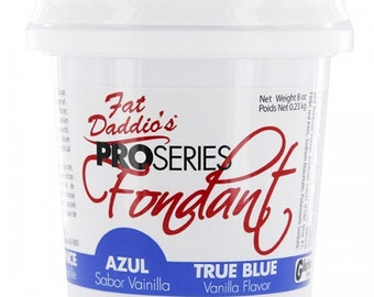 Deluxe Blue Fondant/ 8 OZ. Blue Fondant/ Easy to Use Blue Fondant/ Delicious Blue Fondant/  Fondant for Small Projects