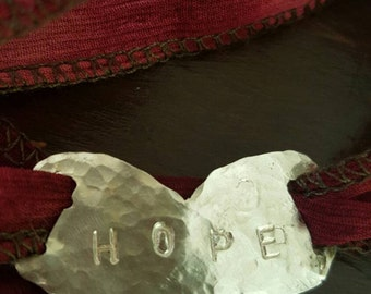 Love and Hope wrap bracelet