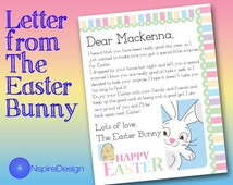 Letter from the Easter Bunny, Customized and Printable