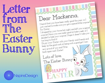 letter from the easter bunny customized and printable