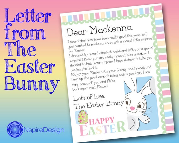 Zany image intended for letter from the easter bunny printable