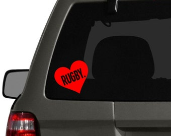 Rugby Decal Vinyl