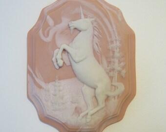 Glorious Pink and White Unicorn Wall Art