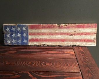 American flag distressed/reclaimed sign