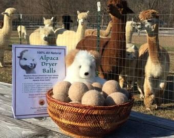 All natural 100% Alpaca Dryer Balls (set of 3)
