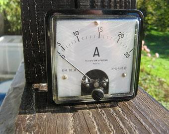 Ammeter- French Vintage.