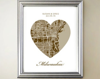 Milwaukee Heart Map