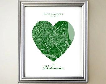 Valencia Heart Map