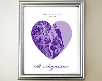St Augustine Heart Map
