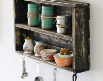 Rustic Double Wall Shelf---6 Colors!