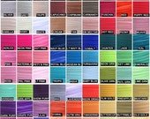 """Fold Over Elastic 5/8"""", Fold Over Elastic Wholesale for Headbands, 5/8"""" Foldover Elastic By the Yard or 5 Yards or 10 Yards Over 80 Colors"""