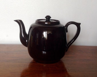 Vintage Brown Teapot. Gibsons One Cup Teapot. 1950's/60's.