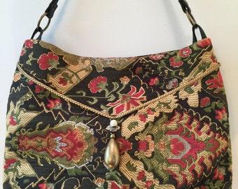 Black Fabric Rectangular Bag