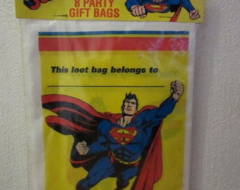 Superman Party Bags, Superman, Super Hero Party Bags