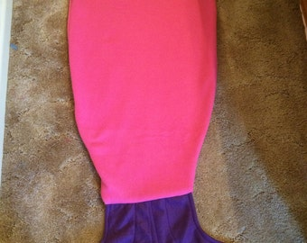 Mermaid tail snuggy blanket