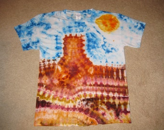 tie dye shirt, desert, Arizona, southwest