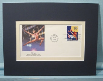 Honoring the American Circus and First Day Cover of the Circus Acrobats stamp