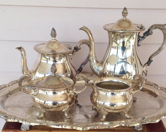 Silver Plated 5-piece Tea and Coffee Set by Poole Silver Co