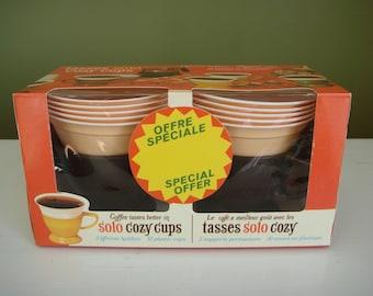 Vintage Solo Cozy Cups - Dark Brown - Sealed in Original Box - NOS - Epsteam