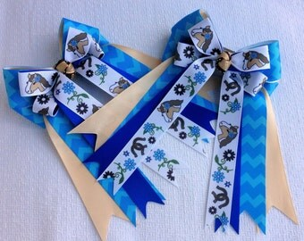Equestrian hair bow,equestrian clothing for pony girl