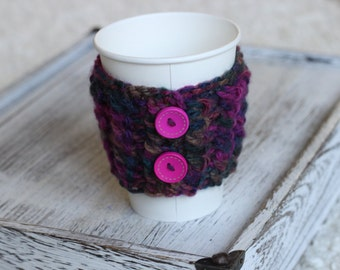 cable knitted cup cozy,coffee cozy cup, cable knit gift