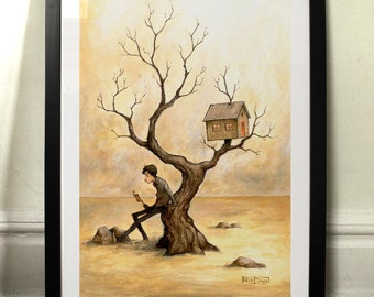 Near my tree - Art print
