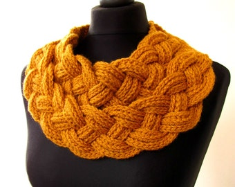 Double Layered Braided Cowl. Handmade cowl, Spring cowl