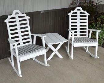Yellow Pine Marlboro Rocking Chair