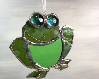 Stained Glass Frog ornament
