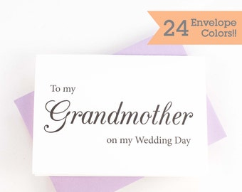 To My Grandmother On My Wedding Day Card, To My Grandma Card (WC050-CL)