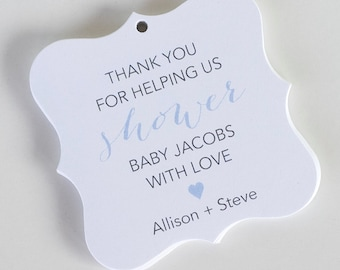 Thanks for Helping Us Shower Tags, Sweet Baby Shower Favor Tags, Baby Shower Hang Tags  (FS-79)
