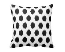 Black Pillow Cover Black Throw Pillow Cover Black Ikat Pillow Cover Black and White Pillow Decorative Pillows for Couch Oversized Pillows