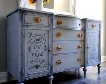 SOLD!!-Refinished vintage sideboard/dresser