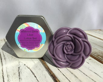 Lilac Lotion Bar: Handmade Lotion Bar, Beeswax, Vitamin E, All Natural, Floral, Moisturizer, Gift