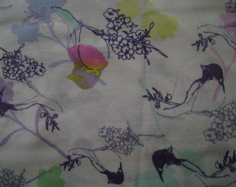 Birds on Branches Cotton Fabric Sold by the Yard