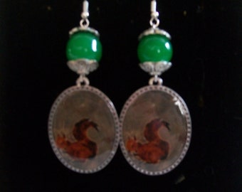 red squirrel earring
