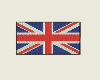 """Union Jack Embroidery file in 3 sizes (4"""", 5"""" & 6"""") and multiple file formats - INSTANT DOWNLOAD - Item #5004"""
