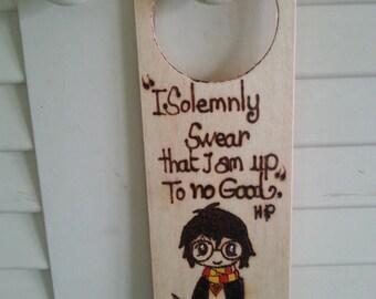 Harry Potter door hanger, Harry Potter door knob hunger, HP, Harry potter, door hanger, door knob decoration,