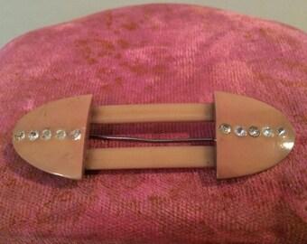 Vintage Celluloid Rhinestone Pin