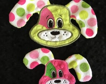 NNC Digger the Dog Applique - 4x4 and 5x7 hoop - all popular formats