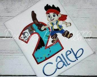 Jake and the Neverland Pirate Birthday Shirt