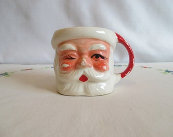 Vintage Winking Santa Mug