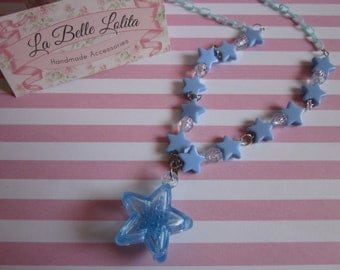 Starlight Necklace in Sky Blue