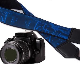 InTePro Computer camera strap. Microscheme Camera strap. Circuit board Camera Strap. Men's Camera strap.