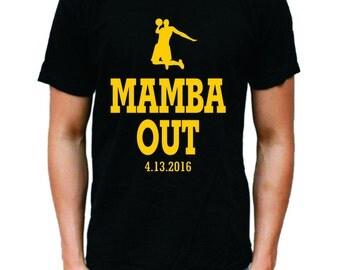 MAMBA OUT Kobe Bryant T-shirt